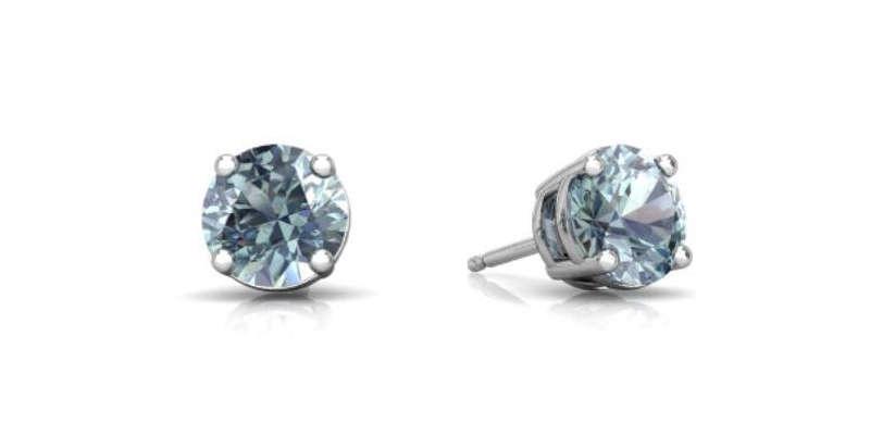 Pendientes redondos de Aguamarina Elizabeth Jewelry