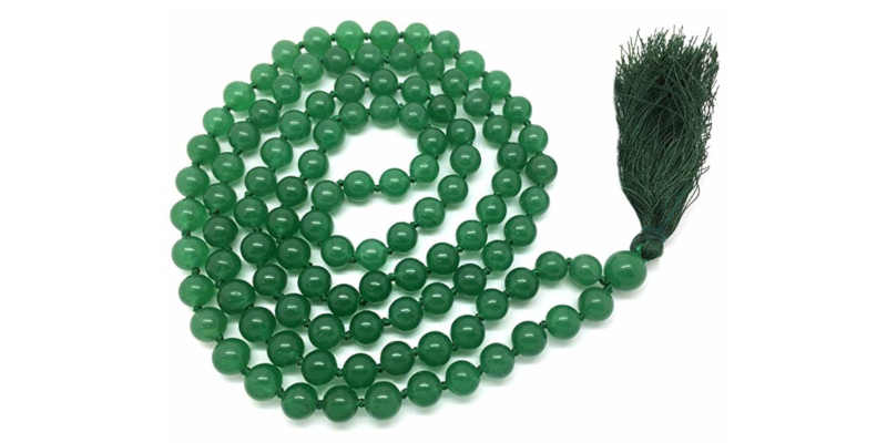 Collar de cuarzo verde