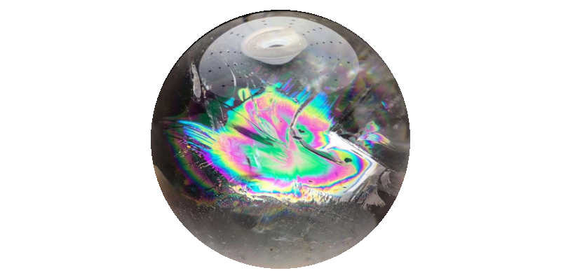 Bola de cuarzo arcoíris