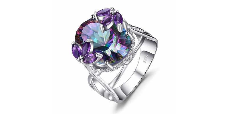Cuarzo místico amatista, violeta lila morado