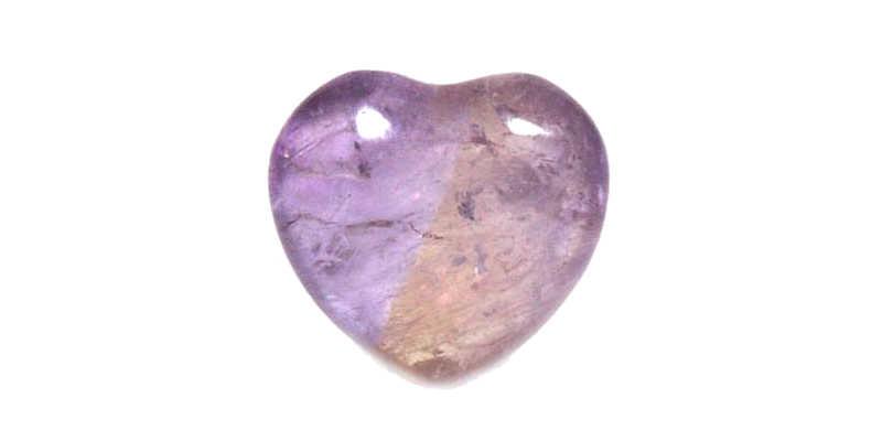 Cuarzo ametrino en forma de corazón significadodelaspiedras cristaljoia