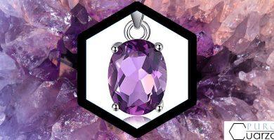 Propiedades del cuarzo amatista lila morado malva violeta
