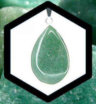 Cuarzo verde o cristal verdoso aventurina